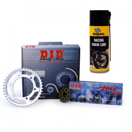 Kit Chaine Acier DID 14-48 428VX 132 maillons Yamaha YZF 125 R 2008-2016