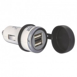 O-106 Chargeur USB 2 sorties (allume-cigare) T106
