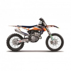 Ktm Exc 125 &+ 2014-2016 Kit Déco Blackbird Replica Team Trophy 2017