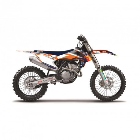 Ktm Sxf 250 2016-2017 Kit Déco Blackbird Replica Team Trophy 2017