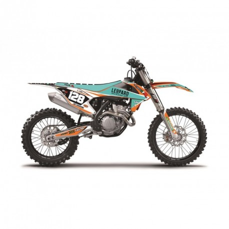 Ktm Exc 125 &+ 2017 Kit Déco Blackbird Replica Team Trophy + Housse De Selle 2017